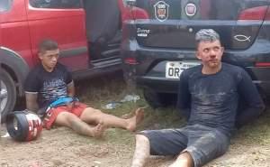 Bandidos trocam tiros com a Polícia e acabam presos
