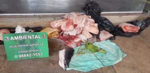 Batalhão Ambiental da PM apreendeu mais de 400 quilos de carne de caça este ano