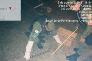 Comando de Policiamento Ambiental realiza resgate de uma jiboia na zona Leste de Manaus