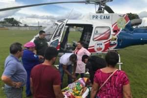 Criança de 8 anos com trauma grave no Careiro Castanho