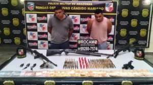 Dupla da FDN é presa com arsenal na zona Leste de Manaus
