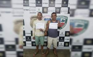Dupla é presa condenada por roubo majorado na zona Leste de Manaus
