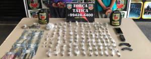 Força Tática apreende dois adolescentes com drogas no Armando Mendes
