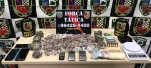 Força Tática detêm homem com drogas e munições na zona Centro-oeste