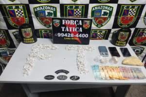 Força Tática detém quatro homens suspeitos de tráfico de entorpecentes na zona Sul