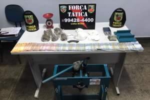 Força Tática detêm suspeito com drogas na Colônia Oliveira Machado