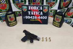 Força Tática detêm suspeito com pistola .40 no Jorge Teixeira