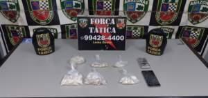 Força Tática detêm suspeito de tráfico de drogas na zona Norte