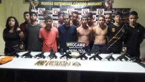 Grupo armado é preso pela Rocam na zona Norte de Manaus