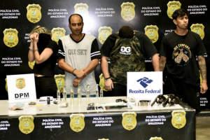Grupo é preso com armas e drogas sintéticas na zona Sul de Manaus