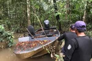 Lancha utilizada por piratas é apreendida pela Polícia