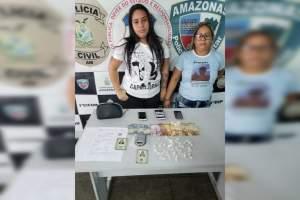 Mãe e filha são presas em flagrante por tráfico de drogas
