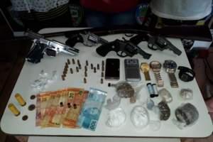 PM detém homem com armas de fogo e drogas no município de Anamã