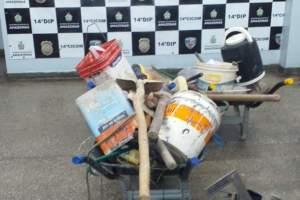 PM detém homem com objetos roubados do terreno de empresa na zona Leste