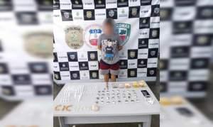 PM detém homem por tráfico de drogas no Centro