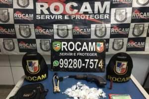 PM detém homem por tráfico e porte ilegal de arma de fogo no Cidade de Deus