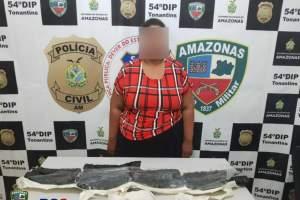 PM detém mulher por tráfico de drogas em Tonantins