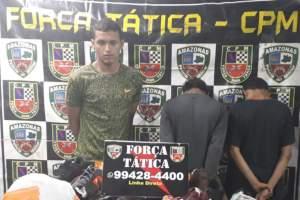 PM prende oito pessoas e apreende drogas em Manaus