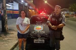 PM resgata carro roubado e abandonado na comunidade Nova Conquista