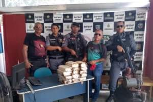 Polícia apreende aproximadamente 14 quilos de maconha do tipo skunk em Jutaí