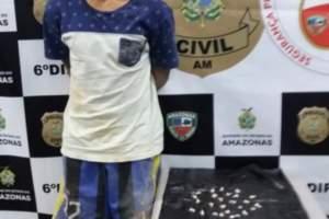 Polícia Civil prende jovem com 24 trouxinhas de oxi no bairro Cidade Nova