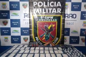 Polícia detêm dois homens com arma caseira e drogas em Boca do Acre