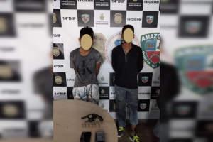 Polícia detém homens por assaltos na zona Leste de Manaus