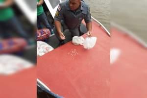 Policia Militar apreende drogas em embarcação no município de Alvarães