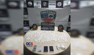 Polícia Militar detém casal por suspeita de tráfico de drogas no Parque Dez