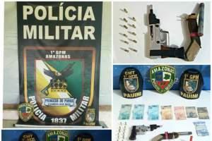 Polícia Militar detém dois infratores por assalto à mão armada em Pauini