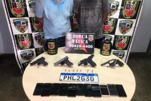 Polícia Militar detém dupla que cometeu assalto a loja no Shangrilá II