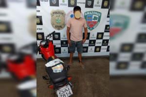 Polícia Militar detém homem em motocicleta adulterada durante abordagem na zona Leste