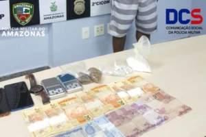 Polícia Militar detém homem suspeito de comercializar drogas na Feira da Banana
