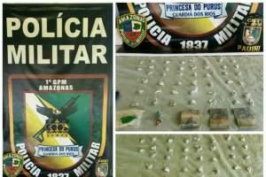 Policia Militar detém homem suspeito de tráfico de drogas no município de Pauini