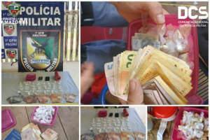 Polícia Militar detém quatro suspeitos de tráfico de drogas em Pauini