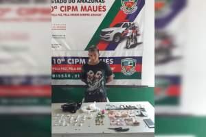Polícia Militar detém suspeito de tráfico em Maués