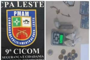 Polícia Militar detém suspeitos de tráfico de droga na zona Leste