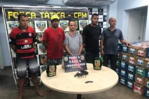 Polícia Militar prende quadrilha com 2 mil caixas de leite roubadas