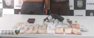 Polícia Militar prendem dois homens que assaltaram coletivo no Centro
