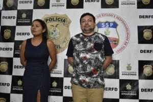 Polícia prende ex-vereador de Presidente Figueiredo e a mulher por golpe de estelionato