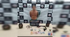 Polícia prende homem por porte ilegal de arma de fogo e tráfico de drogas na zona Norte de Manaus