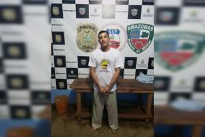 Polícia prende homem procurado por latrocínio ocorrido em 2017 no município de Manacapuru