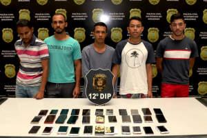 Polícia prende sete pessoas envolvidas em roubos e furtos na cidade