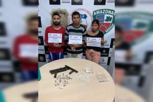 Polícia prende trio por tráfico de drogas no bairro Nova Esperança