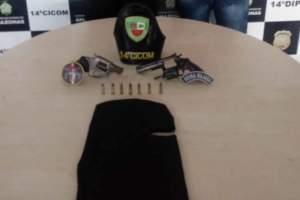 Policiais da 14ª Cicom detêm suspeitos de porte ilegal de arma de fogo no Tancredo Neves