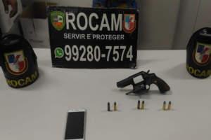 Policiais da Rocam apreendem adolescente por porte ilegal de arma de fogo