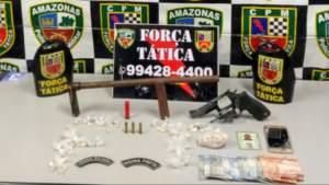 Policiais detém suspeito com armas e munições na zona Norte