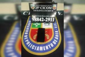 Policiais militares da 25ª Cicom apreendem adolescente por roubo na zona Leste