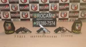 Policiais militares da Rocam detêm suspeito com armas de fogo na zona Norte