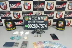 Policiais militares detêm casal com drogas e arma de fogo no bairro Alvorada